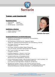 Trainerprofil - Sarrazin Coaching