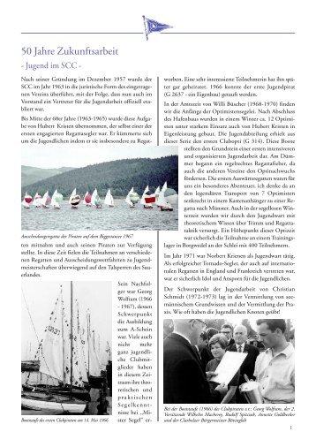 Chronik – 50 Jahre Jugendarbeit - Segler-Club Clarholz