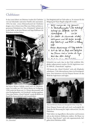 Chronik – 50 Jahre Clubhäuser - Segler-Club Clarholz