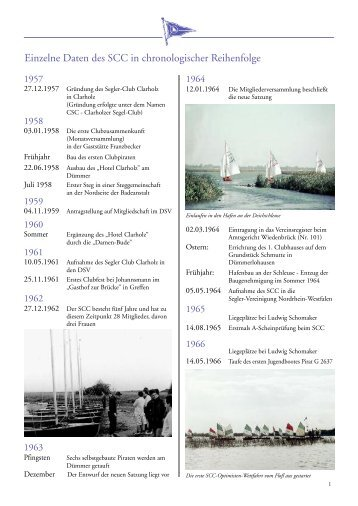 Chronik – 50 Jahre Chronologie - Segler-Club Clarholz