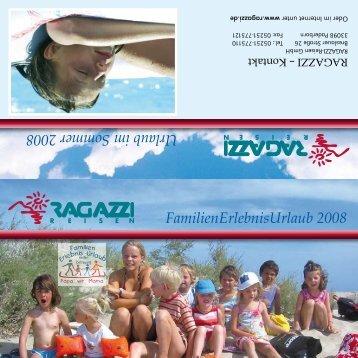 FamilienErlebnisUrlaub 2008 Urlaub im Sommer ... - Katalogfinder.de