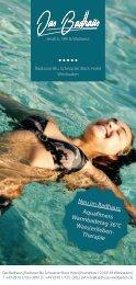 Neu im Badhaus: Aquafitness Warmbadetag 36°C Wass(er)leben ...