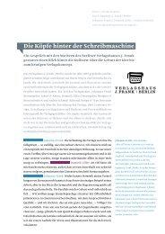 Die Köpfe hinter der Schreibmaschine - Design made in Germany