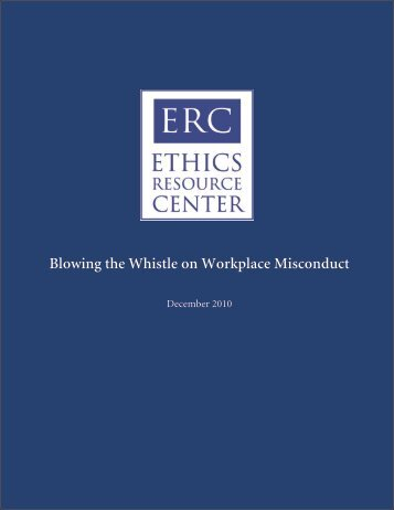 Blowing the Whistle on Workplace Misconduct - Ethics Resource ...