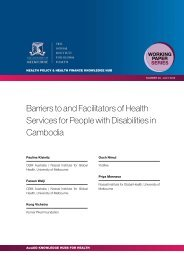 Barriers to and Facilitators of Health Services for People with ...
