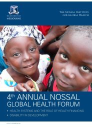 Flyer - The Nossal Institute for Global Health - University of Melbourne
