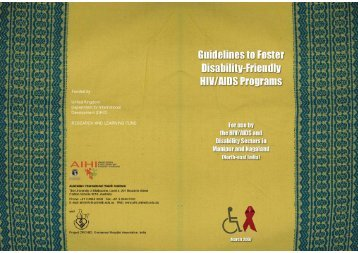 Guidelines to foster disability-friendly HIV programs - The Nossal ...