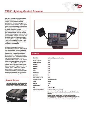 V476® Lighting Control Console - PRG