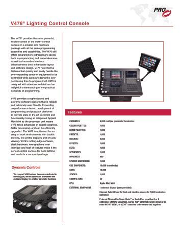 V476® Lighting Control Console - PRG