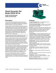 Diesel Generator Set Model DGHD 60 Hz