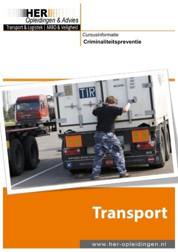 Transport – Criminaliteitspreventie - HER Opleidingen