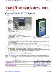 Cardio Holter ECG System - Nasiff