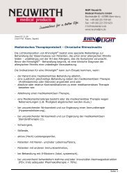 Medizinisches Therapieprotokoll chronische Rhinosunisitis