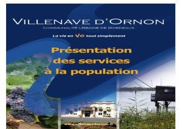 Services à la population - Villenave d'Ornon