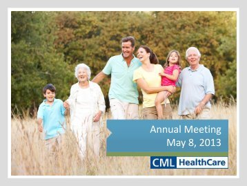 2013 AGM - CML HealthCare