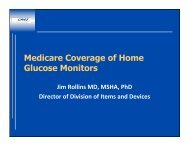 Medicare Coverage of Home Glucose Monitors - Diabetes ...