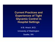 Current Practices and Experiences of Tight Glycemic Control in ...