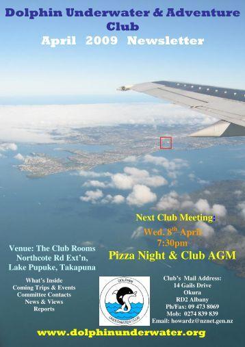 Dolphin Underwater & Adventure Club April 2009 Newsletter