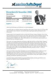 Monatsbericht November 2008