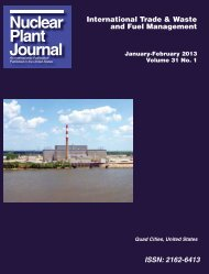 Nuclear Plant Journal publishes NM200E core ... - Newton Labs
