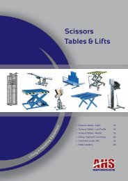 Scissors Tables & Lifts - Absolute Handling Systems