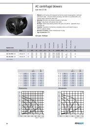 AC centrifugal blowers - Servorecambios