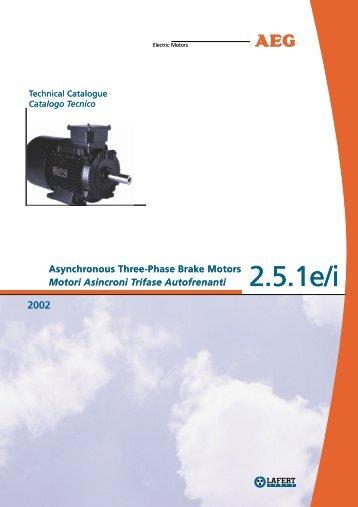 Motori Asincroni Trifase Autofrenanti - Servorecambios