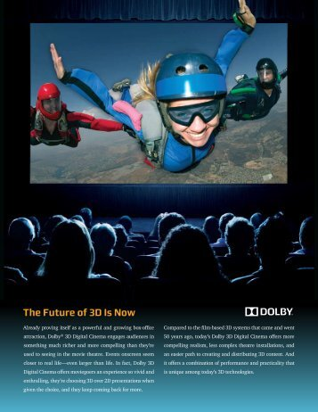 Dolby 3D Digital Cinema Overview brochure - Kelonik