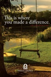 is is where you made a difference. - Indian Springs School