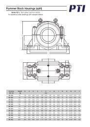 SD 500 plummer block housings for bearings on adapter sleeve