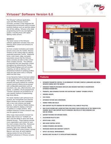 Virtuoso® Software Version 6.0 - PRG