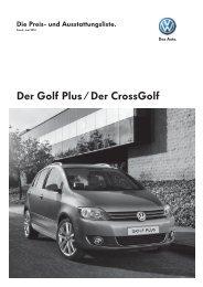 Der Golf Plus / Der CrossGolf - Auto Bergmann AG