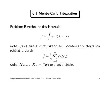 Folien über Monte-Carlo Integration