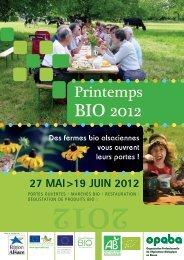 Programme complet du Printemps Bio 2012 - Opaba