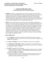 Continuous Quality Improvement in the Human Research