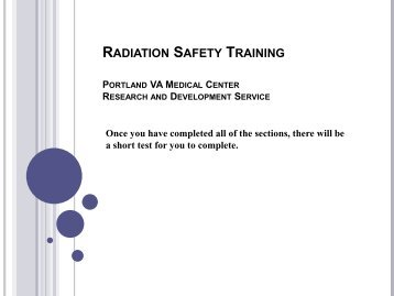 radiation safety policy procedures Compliance guidance for quality assurance policies and procedures for the following - i policy for holding policy and rules on radiation safety as.