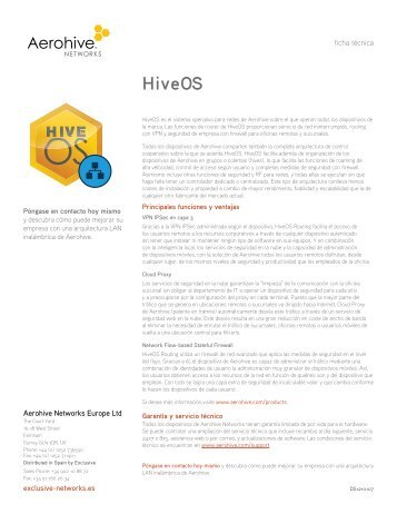 HiveOs Routing - Exclusive Networks