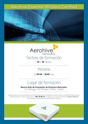 Curso de Certificación Aerohive Networks - Exclusive Networks