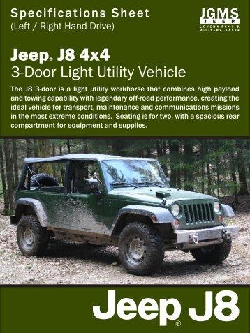 J8 Spec Sheet - 3-Door Utility - Jeep J8
