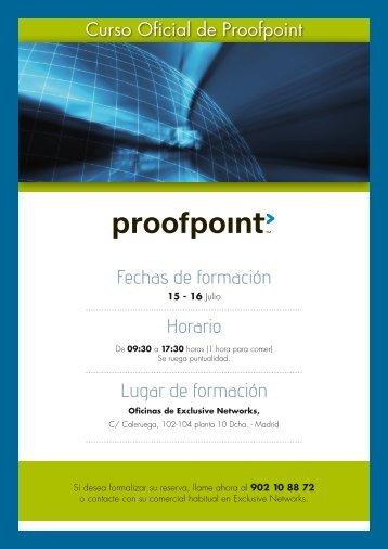 Curso Oficial de Proofpoint - Exclusive Networks
