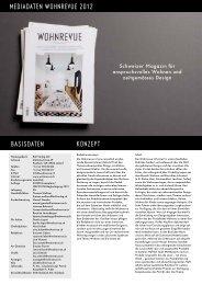 Mediadaten Wohnrevue 2012 Basisdaten Konzept