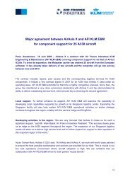 Major agreement between AirAsia X and AFI KLM E&M - Air France ...