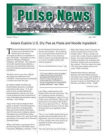 Dec 06 Newsletter - Northern Pulse Growers Association
