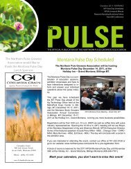 The Pulse - Northern Pulse Growers Association