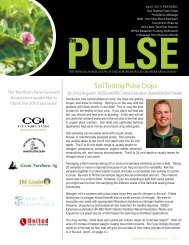 The Pulse - April 2013 - Northern Pulse Growers Association