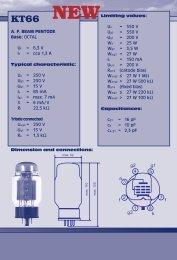 KT66 Datasheet, KT66 at TAD