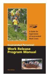 Work Release Program Manual - Engineering Policy Guide