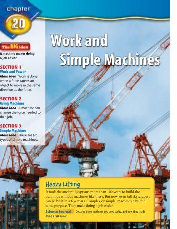 simple machine worksheets high school