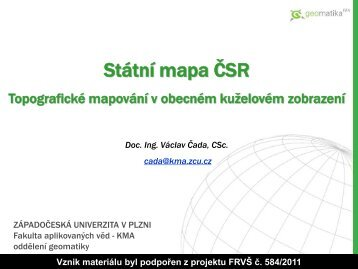 Státní mapa 1:5000 - Západočeská univerzita v Plzni