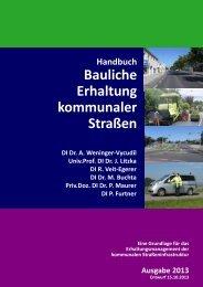 Handbuch Bauliche Erhaltung kommunaler Straßen - PMS-Consult